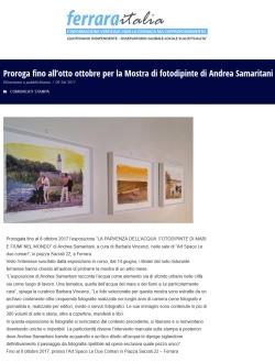 2017_09_10 Ferrara Italia proroga della mostra