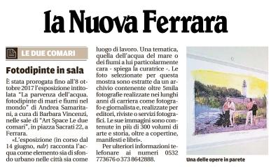 2017_09_11 La Nuova Ferrara proroga della mostra